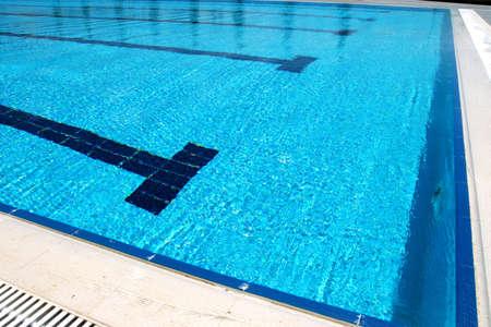 glistening: fresh blue swimming pool