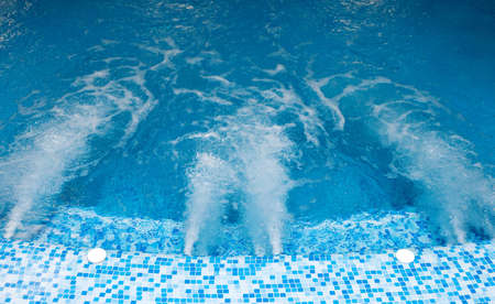 hydrotherapy: Strong pressure of water in a jacuzzi