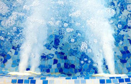 Sterke druk van het water in een jacuzzi Stockfoto