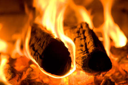 Fire wood burns in an oven Stock Photo - 5229649