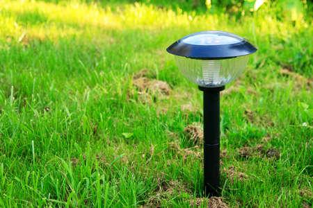 outdoor lighting: modern solar-powered garden lamp