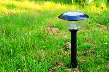 modern solar-powered garden lamp