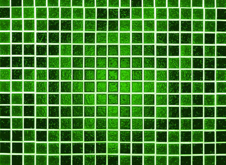 plastic made: green background made of plastic tile mosaic Stock Photo