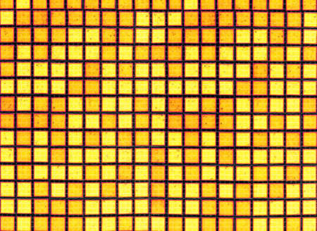 yellow black gridded background from tile mosaic Stock Photo - 6097214