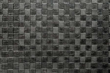 black leather upholstery  photo