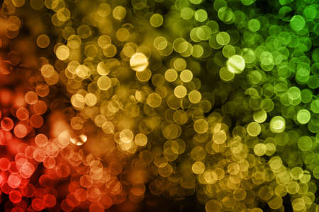 holiday background unfocused red yellow green lights