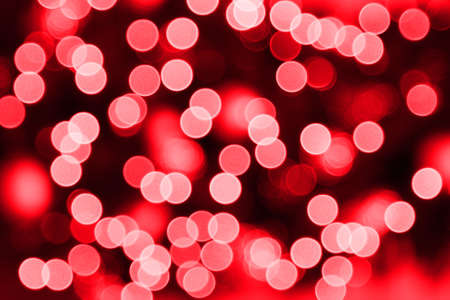 Background of blurred red christmas lights 스톡 콘텐츠