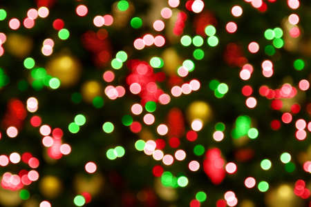 colourful lightings: Background of blurred christmas lights Stock Photo