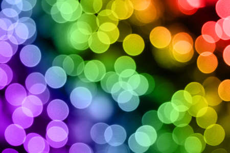 christmas lights. Multicolored blurred light Stock Photo