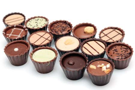 혼합 된 초콜릿 흰색 배경 (사탕 바구니) 스톡 콘텐츠 - 6443848