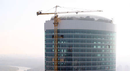 Construction of a skyscraper in Moscow photo