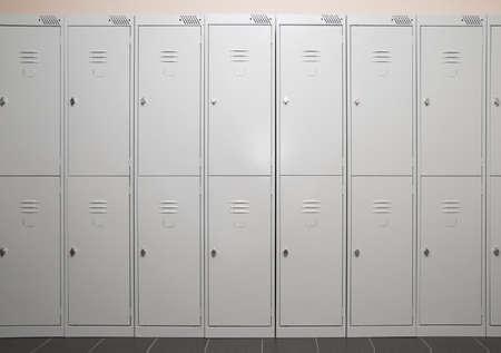 Row of stark metal lockers