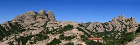 Montserrat mountain. Panoramic view photo