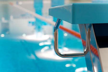 Starting Block  in Swimming Pool Stock Photo - 8011008