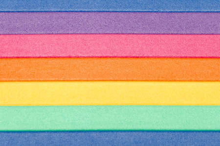 polyfoam: Horizontal lines of color of a rainbow background. polyfoam