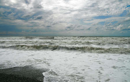 Sea during a storm Stock Photo