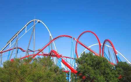 coaster: Red Roller Coaster port aventura  Spain