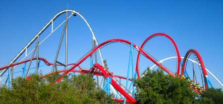 port aventura: Red Roller Coaster port aventura  Spain
