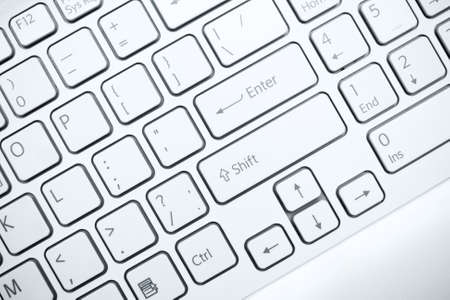 Closeup of a computer keyboard