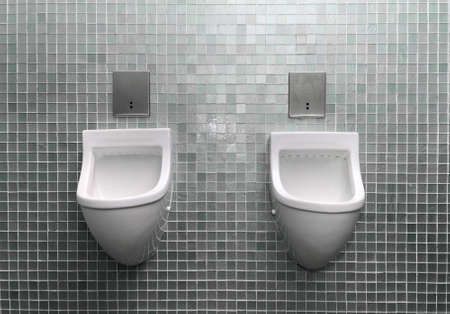 Two Urinal in the toilet photo