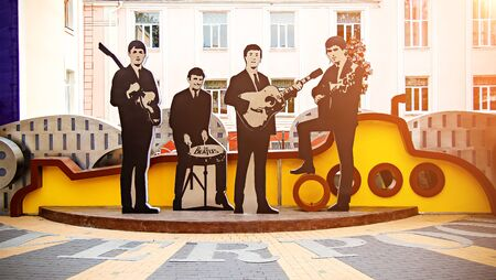 Vinnitsa, Ukraine September 17, 2017. Monument to The Beatles in Vinnitsa, Ukraine. yellow submarine.