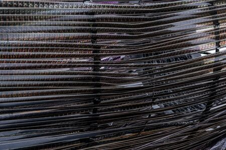 Many rows of old film are stretched for the background. Banque d'images