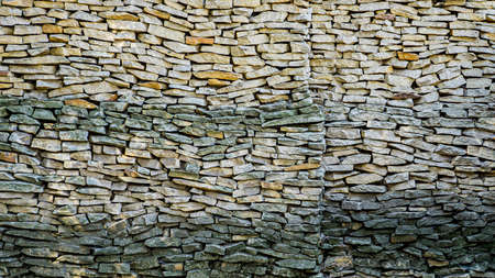The walls are made of stones arranged. Remote view.