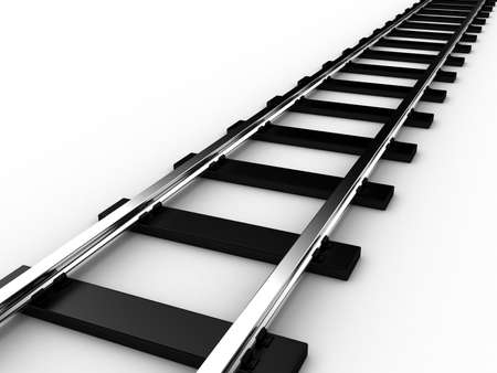 rails: The railway for a train on a white background