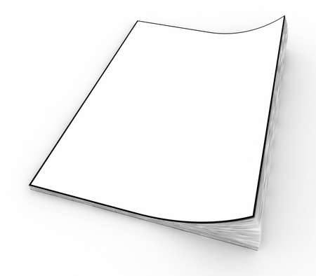 blank newspaper: Clean sheets paper in notepad on a white background