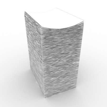 The big pile of a paper on a white background photo