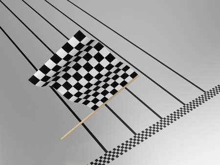 Illustration of a flag for waving it on finish illustration