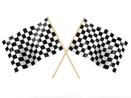 checker flag: Illustration of a flags for waving it on finish Stock Photo