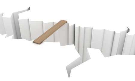 surmount: Transition over a precipice in the form of a wooden board