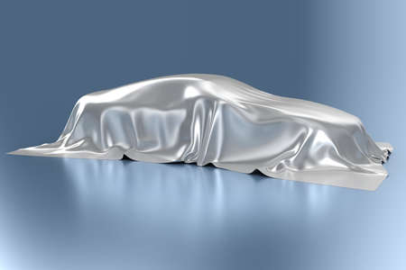 dream car: The automobile covered with a silk fabric
