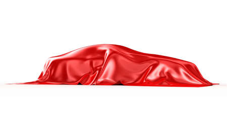 present presentation: The automobile covered with a silk fabric