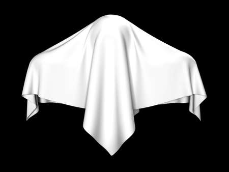 terribly: The ghost covered with a white coverlet