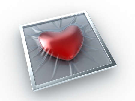 sealed: The heart sealed in transparent packing