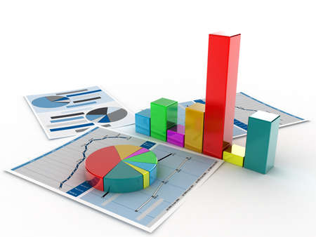 The diagramme which shows the statistical data Stock Photo - 10896395