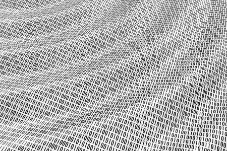 Figures of a binary code, as waves at ocean