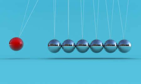 hangs: Illustration of the pendulum on a blue background