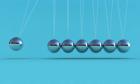 hit: Illustration of the pendulum on a blue background