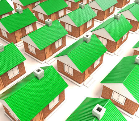 Illustration of many houses standing nearby Stock Illustration - 11023942