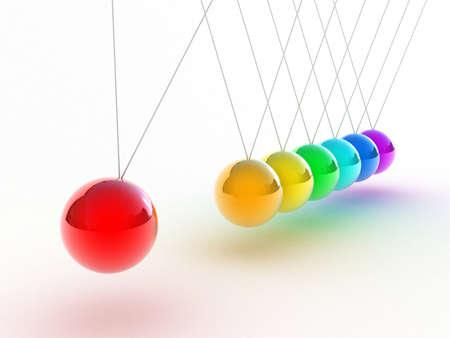Illustratie van de veelkleurige slinger op een witte achtergrond