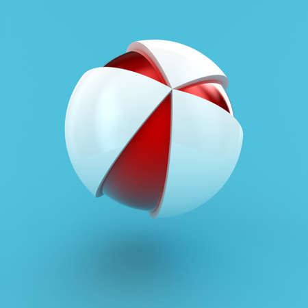 Illustration of design of a logo in a sphere kind illustration