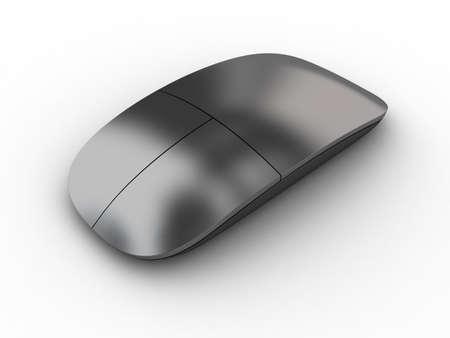 mus: Illustration av en datormus på en vit bakgrund Stockfoto