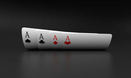 ace: Illustration of playing cards of different colours