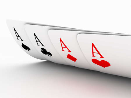 Illustration of playing cards of different colours