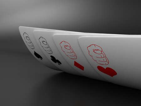 Illustration of playing cards of different colours illustration