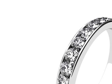 brilliants: Illustration of a silver ring with many brilliants