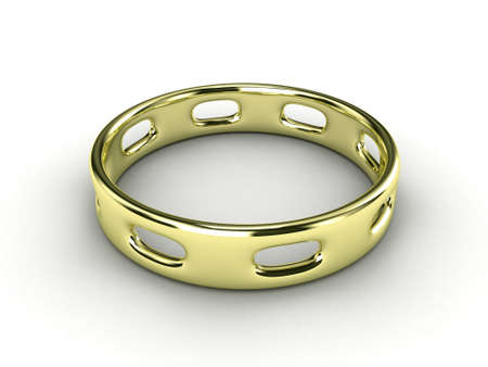 mens: Illustration of a gold ring with hole in it